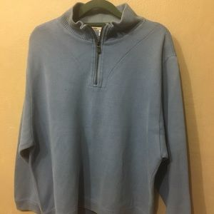 Tommy Bahama Blue 1/4 Zip Front Sweater
